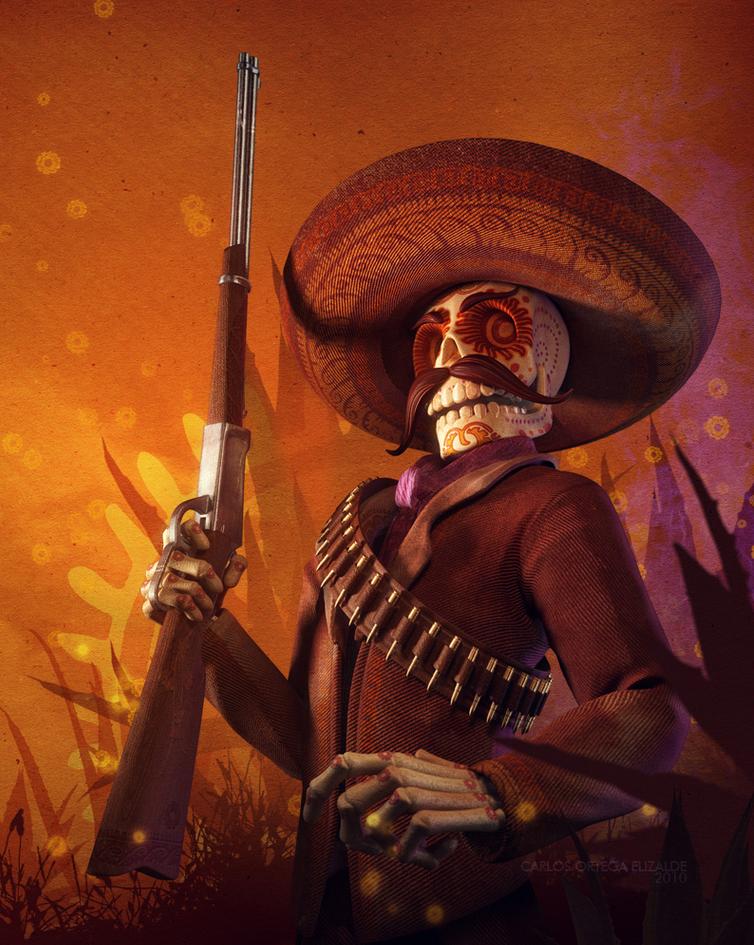 squelette cowboy de carlos ortega