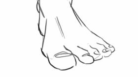 comment dessiner des pieds