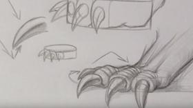 dessiner une patte de dragon