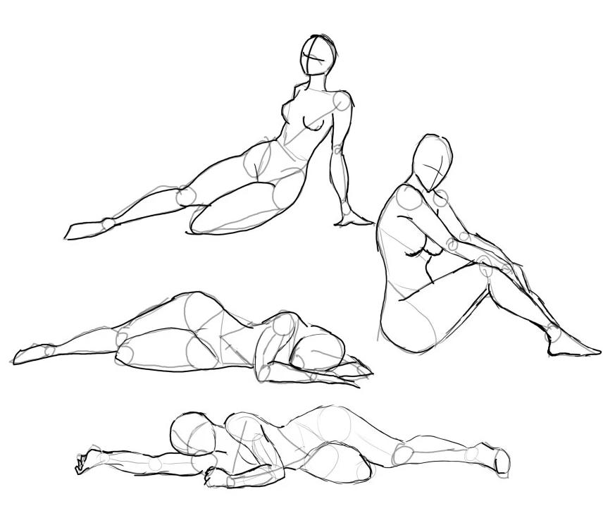 modèles de Personnages nus