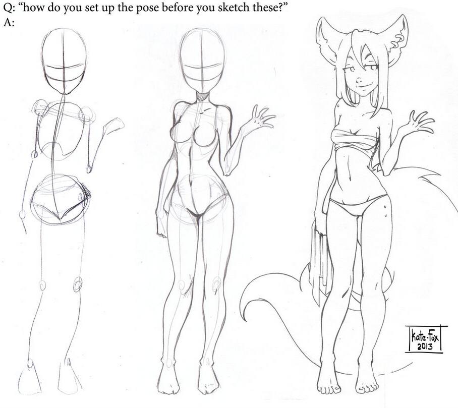 Connu Modèles de poses de personnages - Dessin.land BL66