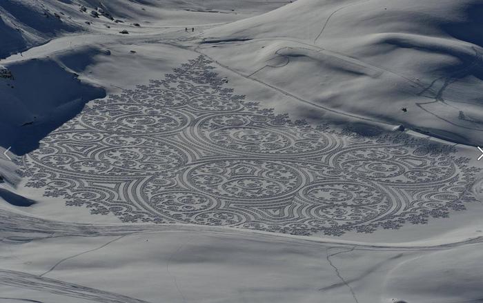 dessin sur neige
