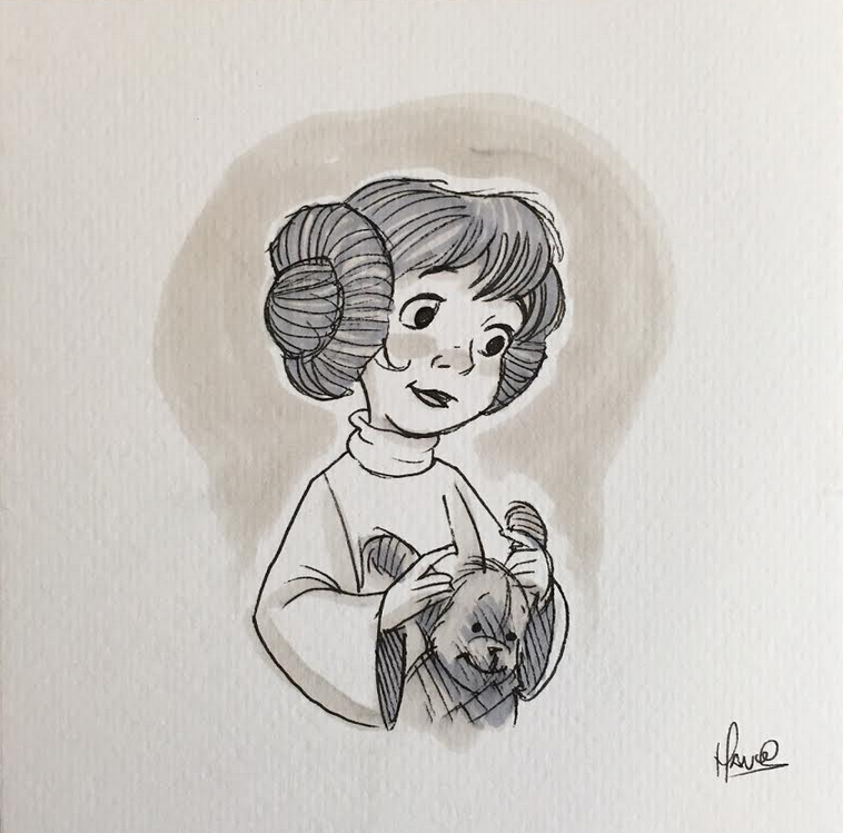 illustration de princesse leia