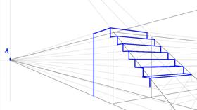 dessiner un escalier en perspective
