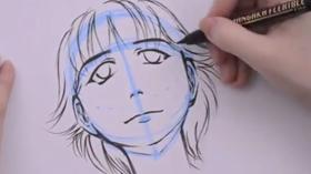 tutoriel dessiner une tête inclinée